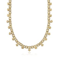 "C. 2000 Vintage Penny Preville .25 ct. t.w. Diamond Choker Necklace in 18kt Yellow Gold. 15"" , , default"