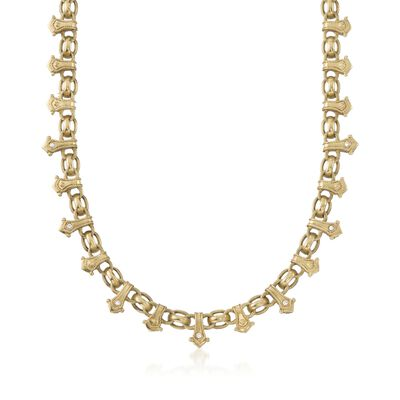 C. 2000 Vintage Penny Preville .25 ct. t.w. Diamond Choker Necklace in 18kt Yellow Gold, , default