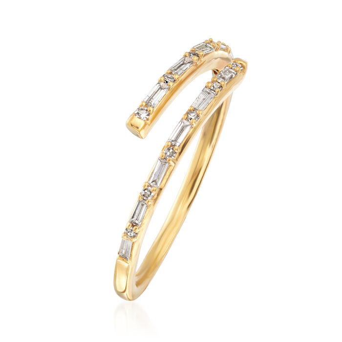 .23 ct. t.w. Diamond Bypass Ring in 14kt Yellow Gold
