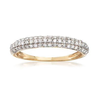 .50 ct. t.w. Pave Diamond Ring in 14kt Yellow Gold, , default