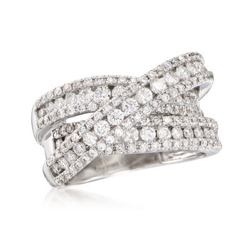 2.50 ct. t.w. Diamond Crisscross Ring in 14kt White Gold, , default