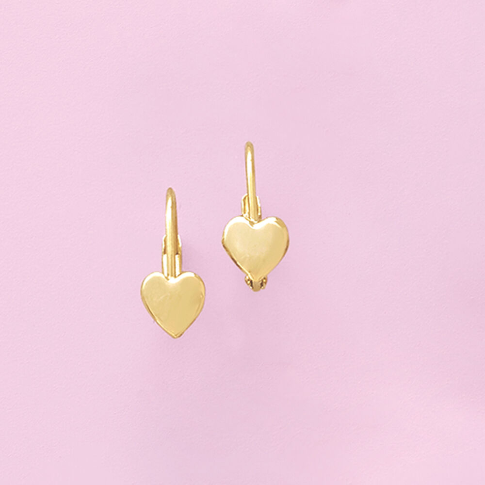 753e0c5d1 ... default Child's 14kt Yellow Gold Heart Drop Earrings, ...
