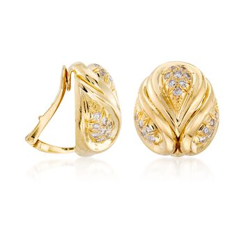 C. 1980 Vintage 1.45 ct. t.w. Diamond Clip-On Earrings in 18kt Yellow Gold , , default