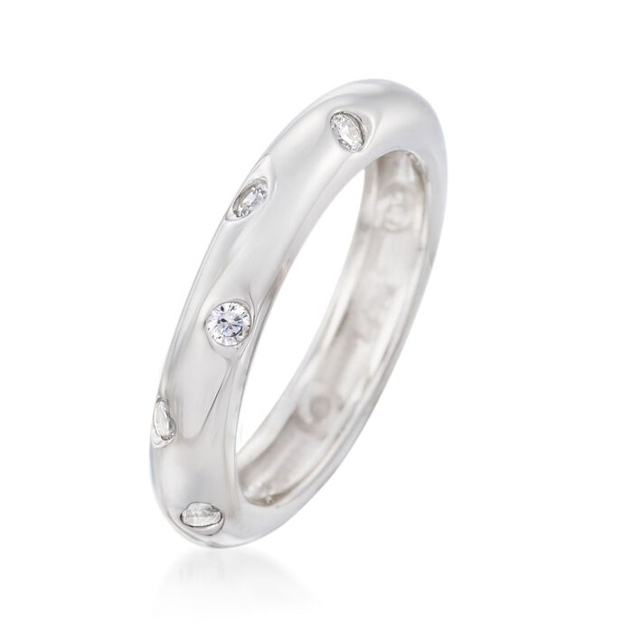 .36 ct. t.w. Burnish-Set CZ Ring in Sterling Silver