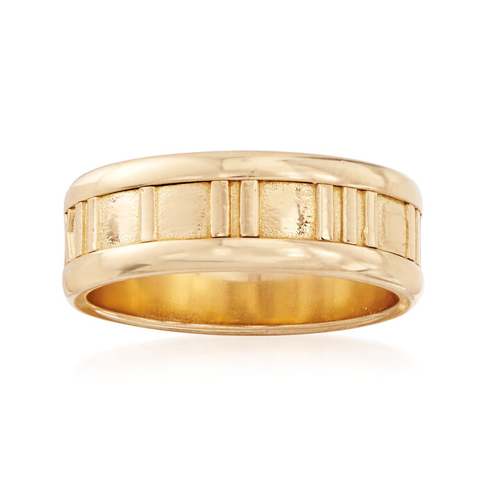 """C. 1990 Vintage Tiffany Jewelry """"Atlas"""" 18kt Yellow Gold Ring. Size 5.75"""