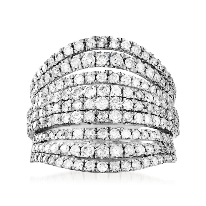 2.00 ct. t.w. Diamond Multi-Row Ring in 14kt White Gold, , default