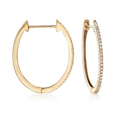.33 ct. t.w. Diamond Hoop Earrings in 14kt Yellow Gold, , default