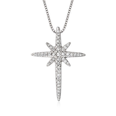 .20 ct. t.w. Diamond Star Pendant Necklace in Sterling Silver