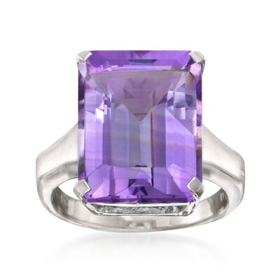 11.00 Carat Amethyst Ring in Sterling Silver, , default