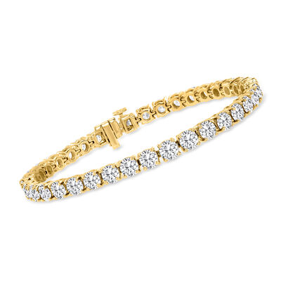 15.00 ct. t.w. Diamond Tennis Bracelet in 14kt Yellow Gold