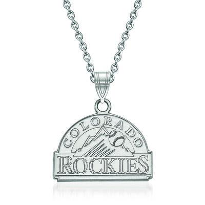 """Sterling Silver MLB Colorado Rockies Pendant Necklace. 18"""", , default"""