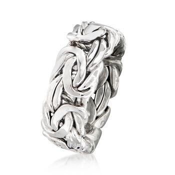 Sterling Silver Wide Byzantine Ring