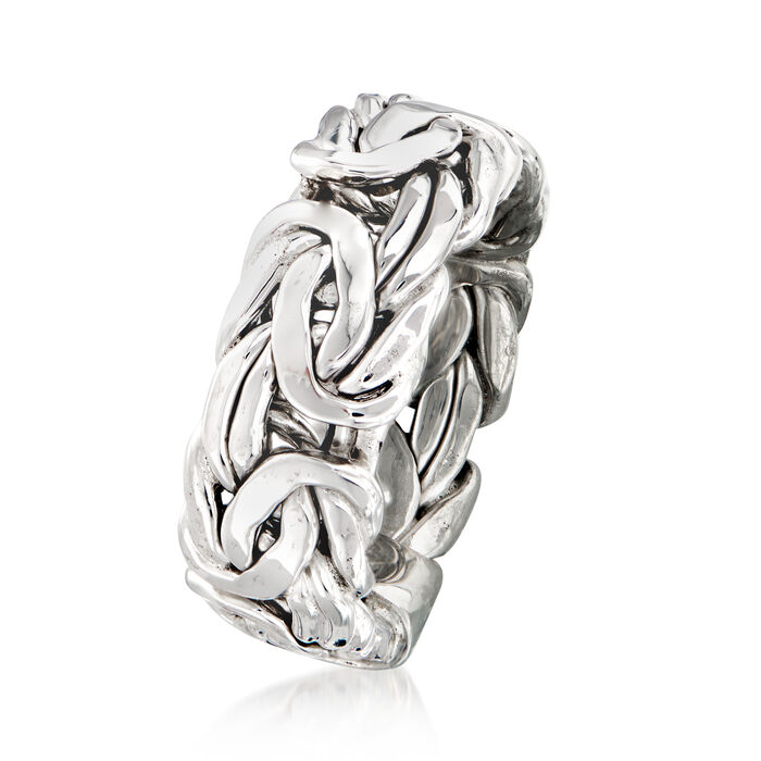 Sterling Silver Wide Byzantine Ring