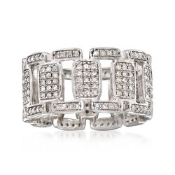 1.00 ct. t.w. Diamond Open-Link Eternity Band in Sterling Silver, , default