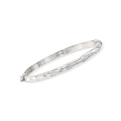 Child's Sterling Silver Star Bangle Bracelet