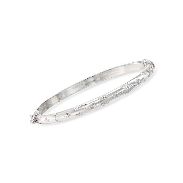 Child's Sterling Silver Star Bangle Bracelet