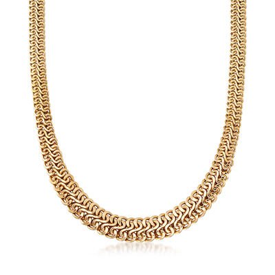 C. 1990 Vintage 14kt Yellow Gold Mesh Necklace, , default