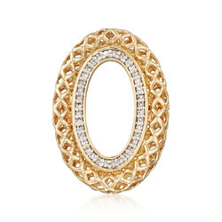.14 ct. t.w. Diamond Oval Pin in 14kt Yellow Gold , , default