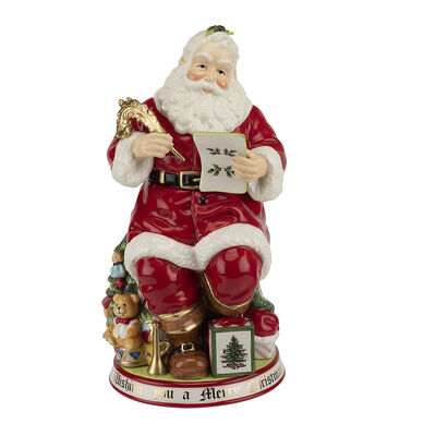"Spode ""Christmas Tree"" Large Santa Cookie Jar"