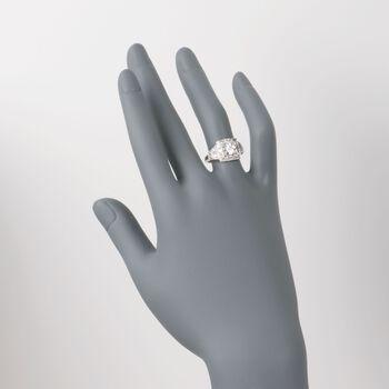 C. 1990 Vintage 1.20 ct. t.w. Certified Diamond Ring in Platinum. Size 6.5, , default