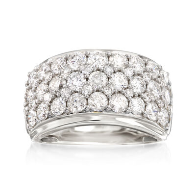 3.00 ct. t.w. Diamond Multi-Row Ring in 14kt White Gold, , default
