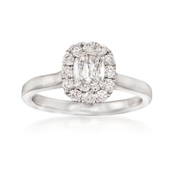 Henri Daussi 1.03 ct. t.w. Diamond Engagement Ring in 18kt White Gold, , default