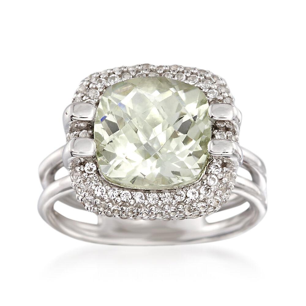 Sterling Silver Prasiolite Rings