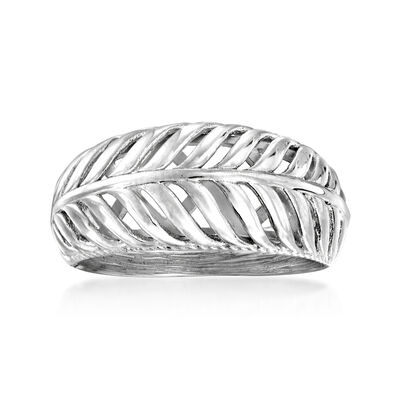 Sterling Silver Palm Leaf Ring