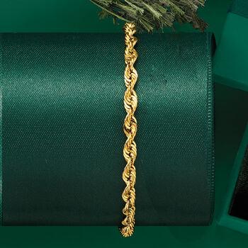 14kt Yellow Gold 4mm Rope Bracelet