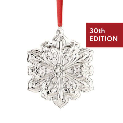 "Towle 2019 Annual ""Old Master"" Sterling Silver Snowflake Ornament - 30th Edition, , default"