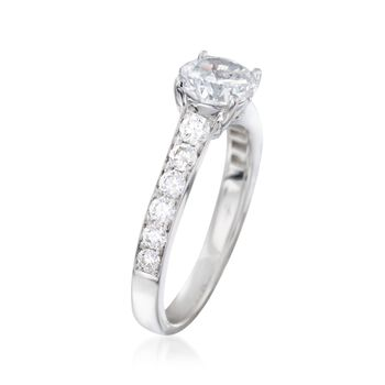 .56 ct. t.w. Diamond Engagement Ring Setting in 14kt White Gold, , default