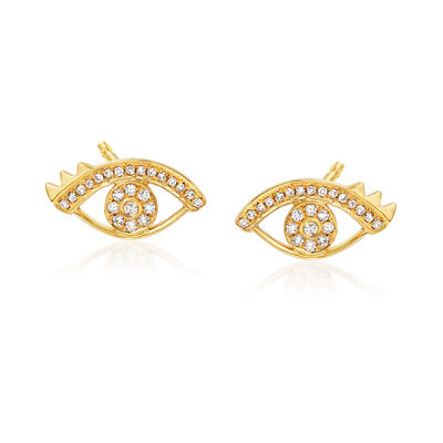 .24 ct. t.w. Diamond Eye Earrings in 18kt Yellow Gold