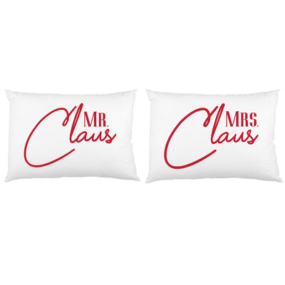 Set of 2 Mr. and Mrs. Claus Pillowcases, , default