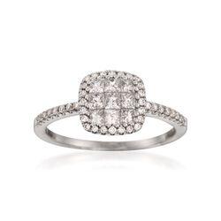 Gregg Ruth .73 ct. t.w. Diamond Ring in 18kt White Gold, , default