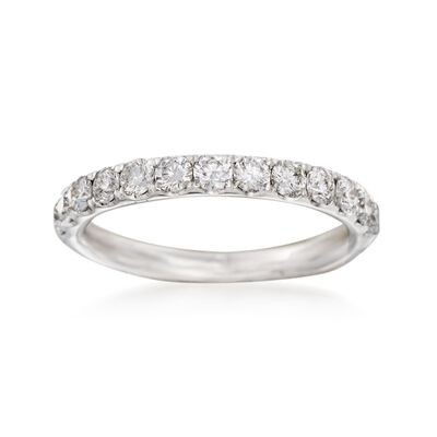 Henri Daussi .75 ct. t.w. Diamond Wedding Ring in 18kt White Gold