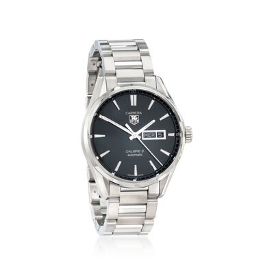 TAG Heuer Carrera Day-Date Men's 41mm Stainless Steel Watch, , default