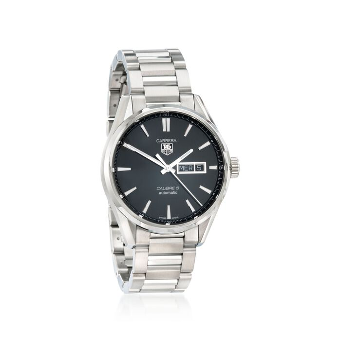 TAG Heuer Carrera Day-Date Men's 41mm Stainless Steel Watch , , default