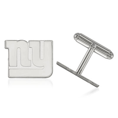Sterling Silver NFL New York Giants Cuff Links, , default