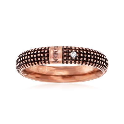 C. 2000 Vintage Damiani 18kt Rose Gold Diamond-Accented Ring