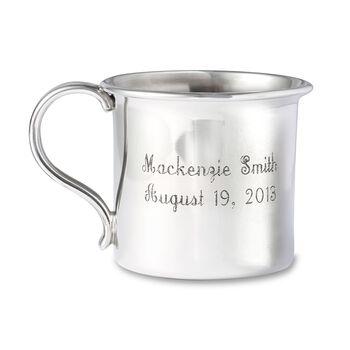 Reed & Barton Pewter Personalized Concord Baby Cup, , default