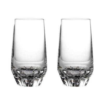 "Waterford Crystal ""Irish Dog Madra"" Set of Two Highball Glasses"