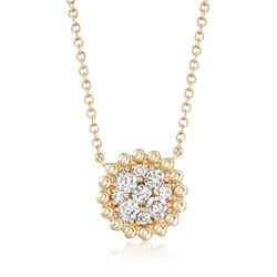 .43 ct. t.w. Diamond Cluster Necklace in 14kt Yellow Gold, , default