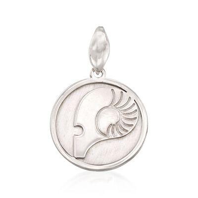 Italian Sterling Silver Aries Zodiac Pendant, , default