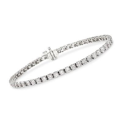 5.00 ct. t.w. Diamond Tennis Bracelet in 14kt White Gold, , default