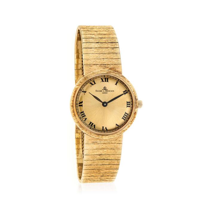 C. 1960 Vintage Baume & Mercier Men's 31mm 14kt Yellow Gold Watch. Size 7.25