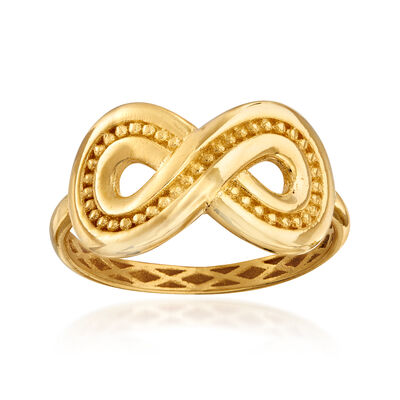 Italian 14kt Yellow Gold Infinity Ring, , default