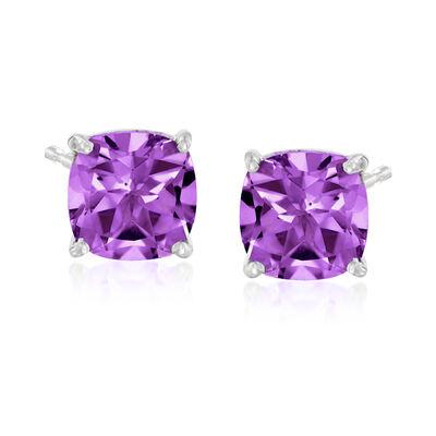 4.90 ct. t.w. Amethyst Stud Earrings in Sterling Silver, , default