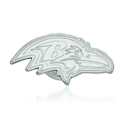 Sterling Silver NFL Baltimore Ravens Lapel Pin, , default