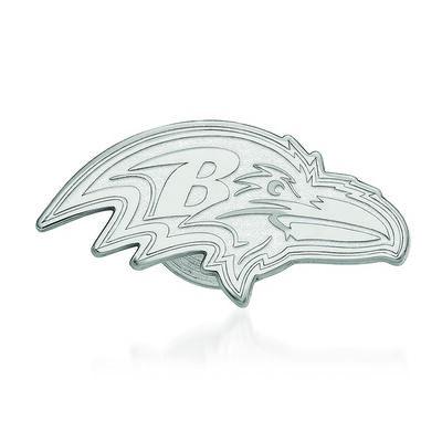 Sterling Silver NFL Baltimore Ravens Lapel Pin