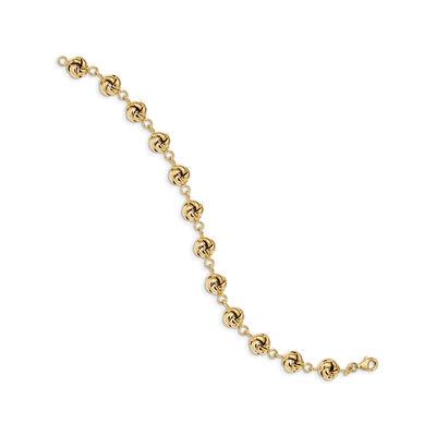 Italian 14kt Yellow Gold Love Knot Link Bracelet